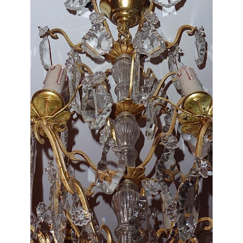 grand lustre bronze et cristal 1930 le grenier d 39 amatxi. Black Bedroom Furniture Sets. Home Design Ideas