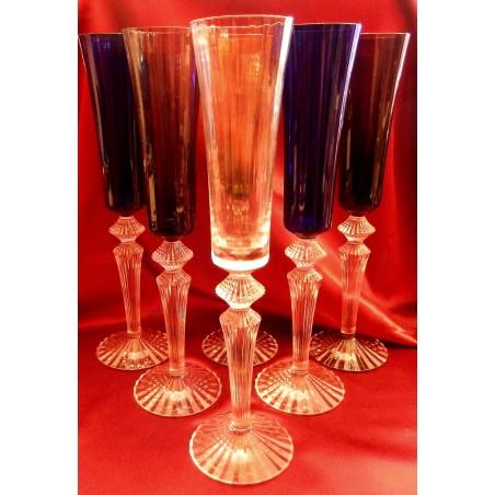 Flûtes à champagne Baccarat Mille et une nuits couleurs