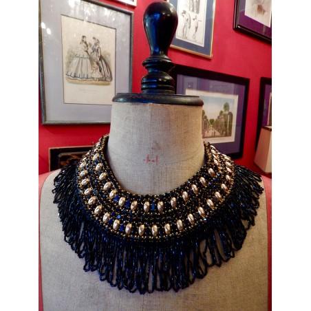 """Collier ras de cou Yves Saint Laurent prototype, collier de défilé, """"Années folles"""""""