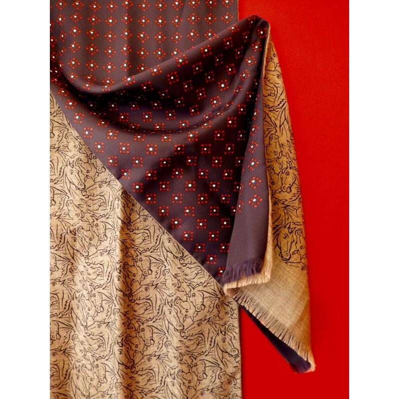 produits de qualité dernières tendances plus grand choix Echarpe homme Hermès soie et cachemire - Le grenier d'amatxi