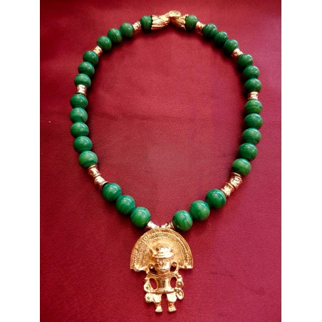 Collier Yves Saint Laurent Malachite