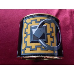 Bracelet émail Hermès XXL 7 cm