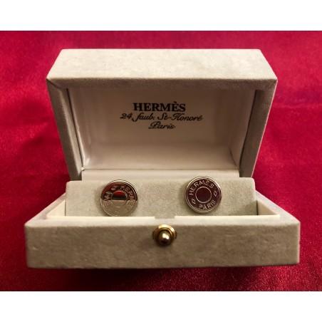 Boutons de manchette Hermès modele Clou de selle