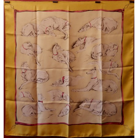 Carré foulard Hermès Lévriers