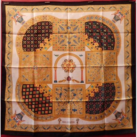 Carré foulard Hermès Ciels bizantins