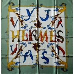 Carré foulard Hermès Alphabet