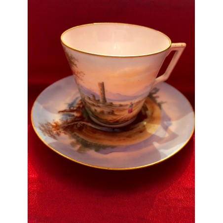Tasse à café et soucoupe Limoges Charles Field Haviland 19°