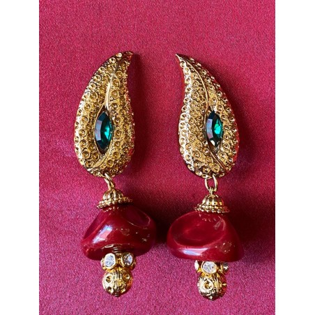 "Boucles d'oreilles Yves Saint Laurent ""Bollywood"""