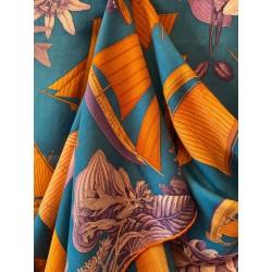 Châle Hermès cachemire et soie
