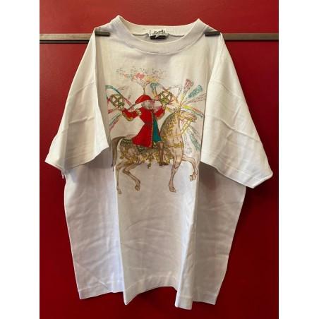 Tee-shirt Hermès vintage Feux d'artifice 1987