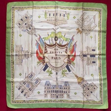 Rarissime carré foulard Hermès Les édifices de Paris