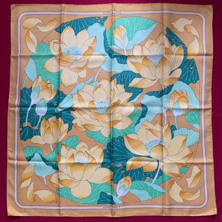 Carré foulard Hermès Fleurs de lotus