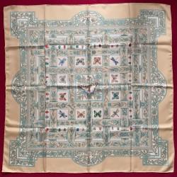 Carré foulard Hermès Les...