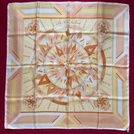 Carré foulard Hermès La rose des vents