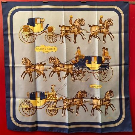 Carré foulard Hermès Coach and saddle