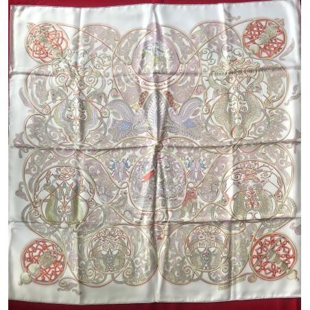 Carré foulard Hermès La charmante aux animaux