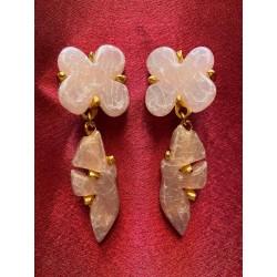 Boucles d'oreilles roses...