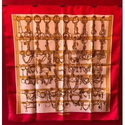 Carré foulard Hermès Mors...